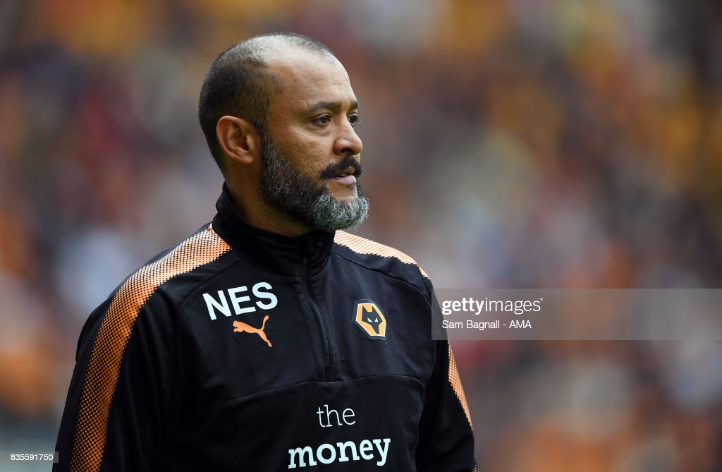 Nuno Espirito Santo manager / head coach of Wolverhampton Wanderers during the Sky Bet Championship match between Wolverhampton and Cardiff City at Molineux on August 19, 2017 in Wolverhampton, England.