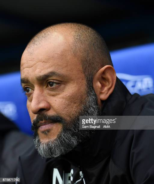 Nuno Espirito Santo manager / head coach of Wolverhampton Wanderers during the Sky Bet Championship match between Reading and Wolverhampton at...