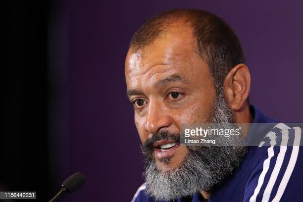 Nuno Espirito Santo Manager of Wolverhampton Wanderers attends prematch press conference of Premier League Asia Trophy on July 19 2019 in Shanghai...
