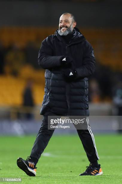 Nuno Espirito Santo Manager of Wolverhampton Wanderers celebrates following the UEFA Europa League group K match between Wolverhampton Wanderers and...