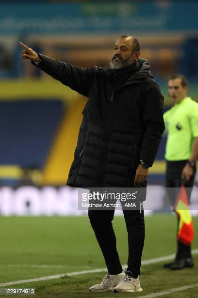 Nuno Espirito Santo the head coach / manager of Wolverhampton Wanderers during the Premier League match between Leeds United and Wolverhampton...