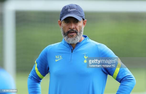Nuno Espirito Santo, Tottenham Hotspur manager during the Tottenham Hotspur pre-season training session at Tottenham Hotspur Training Centre on July...