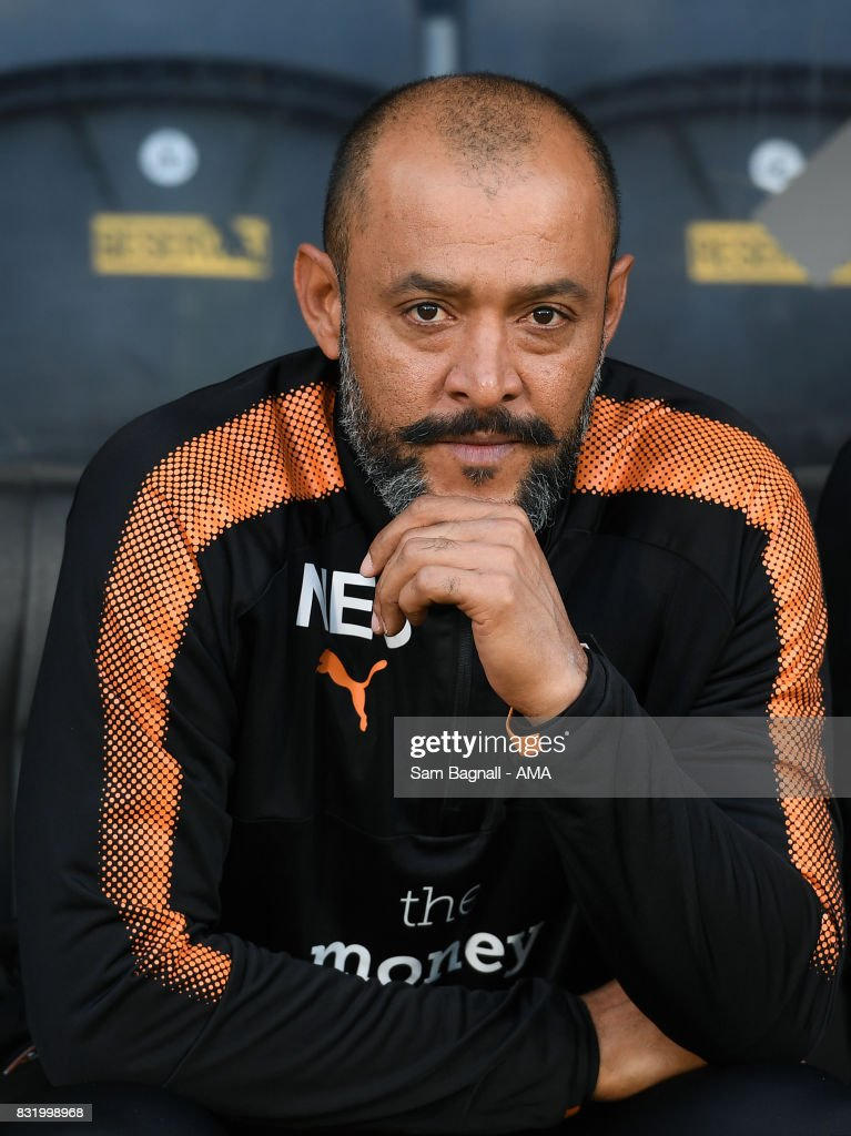Nuno Espírito Santo head coach / manager of Wolverhampton Wanderers during the Sky Bet Championship match between Hull City and Wolverhampton at KCOM Stadium on August 15, 2017 in Hull, England.