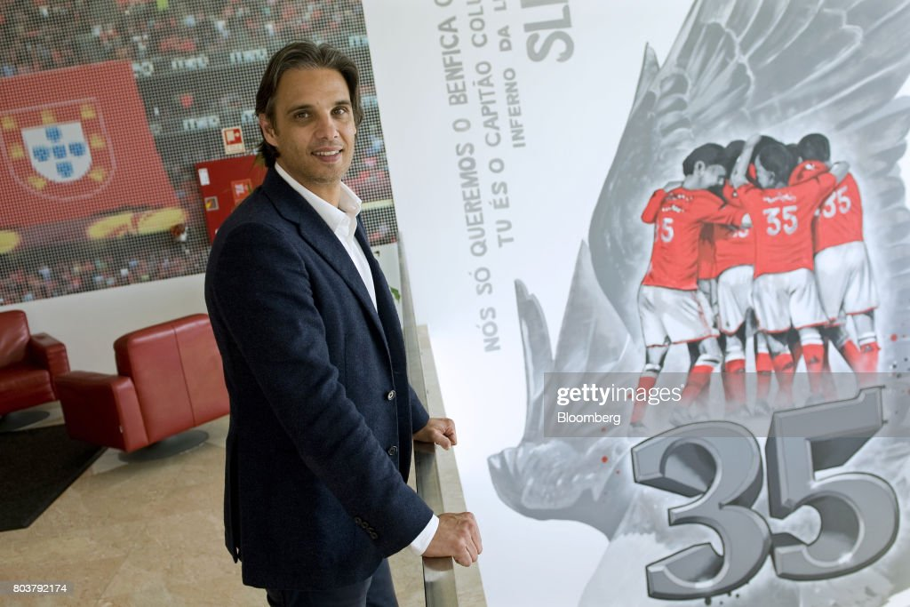 Nuno Gomes, general manager of Sport Lisboa e Benfica's 'Caixa Futebal' youth training campus, poses for a photograph following an interview in the Seixal district of Lisbon, Portugal, on Thursday, April 27, 2017. Portuguese teams breed athletes for the most lucrative leagues in the worlds richest sport and it gives the nation of 10 million with limited domestic income from television rights and merchandising a slice of global soccers riches. Photographer: Paulo Duarte/Bloomberg via Getty Images