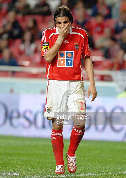 Nuno Gomes of Benfica during the match between Maritimo and Benfica played at Estadio da Luz in Lisbon Portugal on November 25 2006