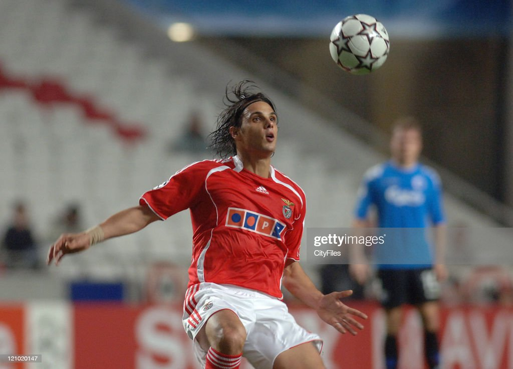 Nuno Gomes of Benfica during the UEFA Champions Leage, Group F SL Benfica vs FC Copenhagen at Luz Stadium in Lisbon, Portugal on November 21, 2006