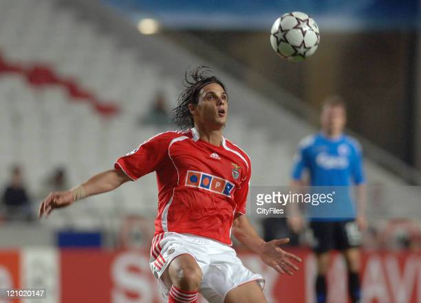 Nuno Gomes of Benfica during the UEFA Champions Leage Group F SL Benfica vs FC Copenhagen at Luz Stadium in Lisbon Portugal on November 21 2006