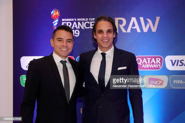Nuno Gomes of Portugal and guest arrive for the FIFA Women's World Cup France 2019 Draw at La Seine Musicale on December 8 2018 in Paris France