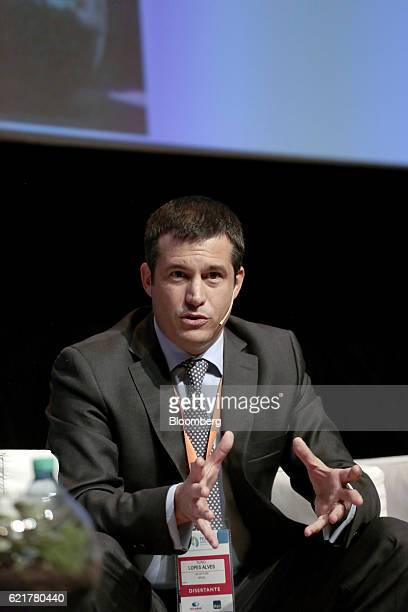Nuno Lopes Alves managing director for Accenture Plc speaks during the 50th Anniversary Federation of Latin American Banks Annual Assembly in Buenos...