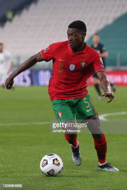 Nuno Mendes of Portugal during the FIFA World Cup 2022 Qatar qualifying match between Portugal and Azerbaijan on March 24, 2021 in Turin, Italy.