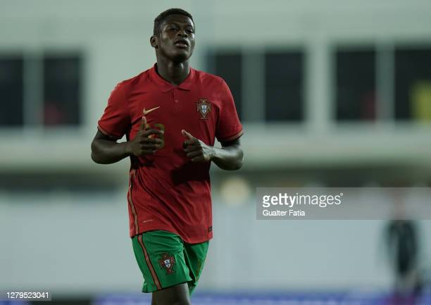 Nuno Mendes of Portugal U21 & Sporting CP during the UEFA Euro Under 21 Qualifier match between Portugal U21 and Norway U21 at Estadio Cidade do...