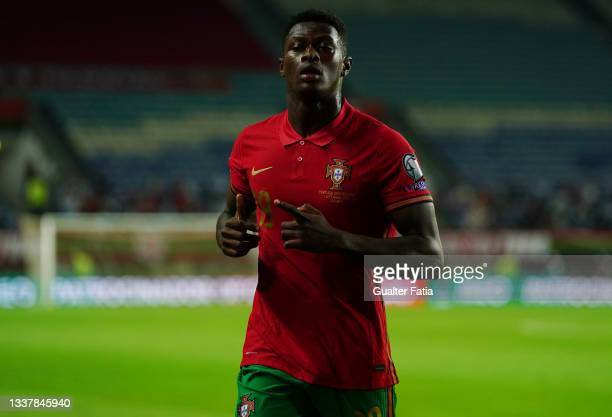 Nuno Mendes of Sporting CP and Portugal during the World Cup 2022 Qualifier match between Portugal and Republic of Ireland at Estadio Algarve on...
