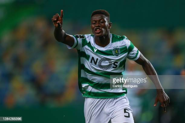 Nuno Mendes of Sporting CP during the Liga NOS match between Sporting CP and CD Tondela at Estadio Jose Alvalade on November 01, 2020 in Lisbon,...