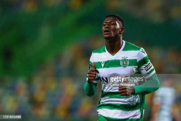 Nuno Mendes of Sporting CP during the Liga NOS round 24 match between Sporting CP and Vitoria Guimaraes SC at Estadio Jose Alvalade on March 21, 2021...