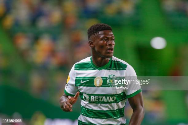 Nuno Mendes of Sporting CP during the Liga Portugal Bwin match between Sporting CP and Belenenses SAD at Estadio Jose Alvalade on 21th August, 2021...