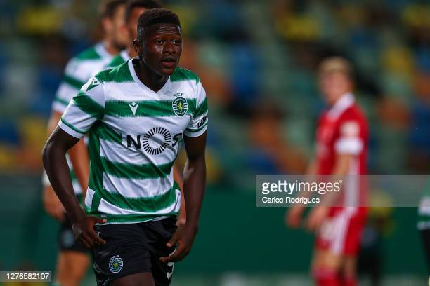 Nuno Mendes of Sporting CP during the UEFA Europa League third qualifying round match between Sporting CP and Aberdeen at Estadio Jose Alvalade on...