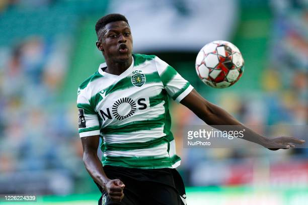 Nuno Mendes of Sporting in action during the Portuguese League football match between Sporting CP and Santa Clara, in Lisbon, on July 10, 2020.