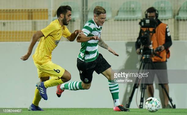 Nuno Santos of Sporting CP with Diogo of Portimonense SC in action during the Friendly match between Portimonense SC and Sporting CP at Portimao...