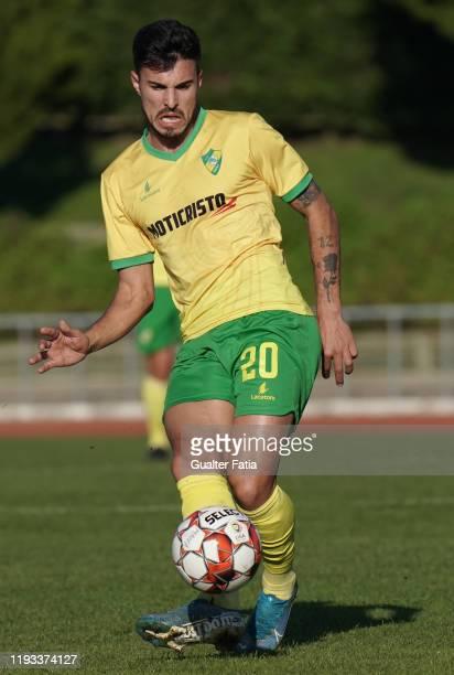 Nuno Tavares of CD Mafra in action during the Liga Pro match between CD Mafra and UD Vilafranquense at Estadio do Parque Desportivo Municipal de...