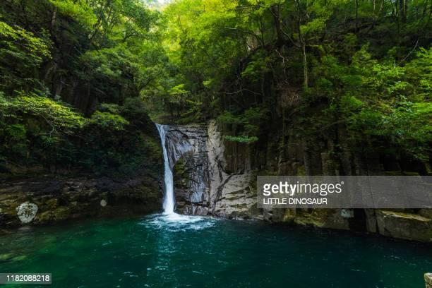 nunobiki-daki, akame 48 waterfalls - 三重県 ストックフォトと画像