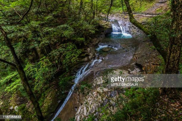 nunobiki-daki, akame 48 waterfalls. upstream - 三重県 ストックフォトと画像
