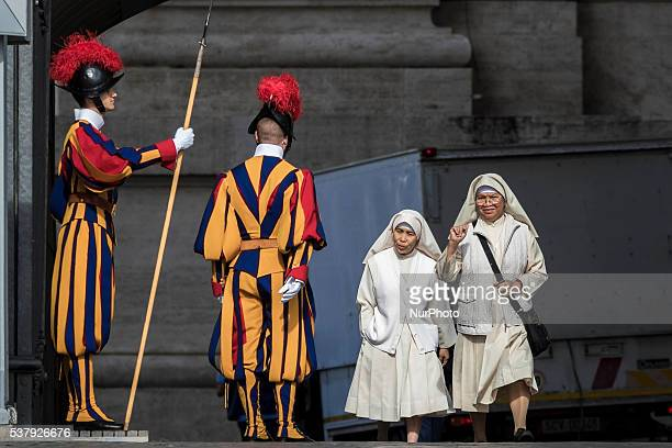 Nuns attend an extraordinary Jubilee Audience as part of ongoing celebrations of the Holy Year of Mercy in St Peter's Square in Vatican City Vatican...
