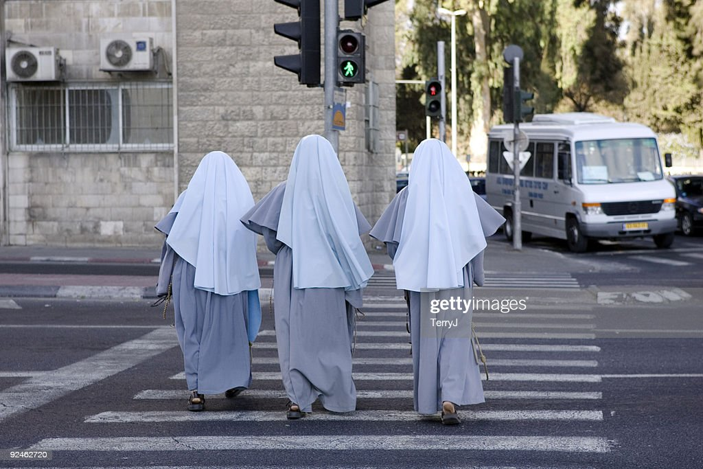 Nuns on the Run : Stock Photo