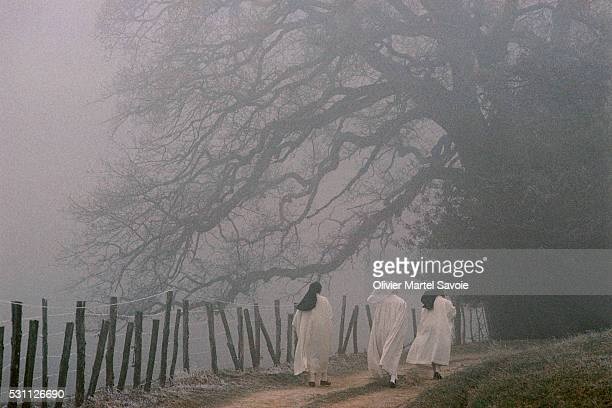 Nuns Taking Early Morning Walk