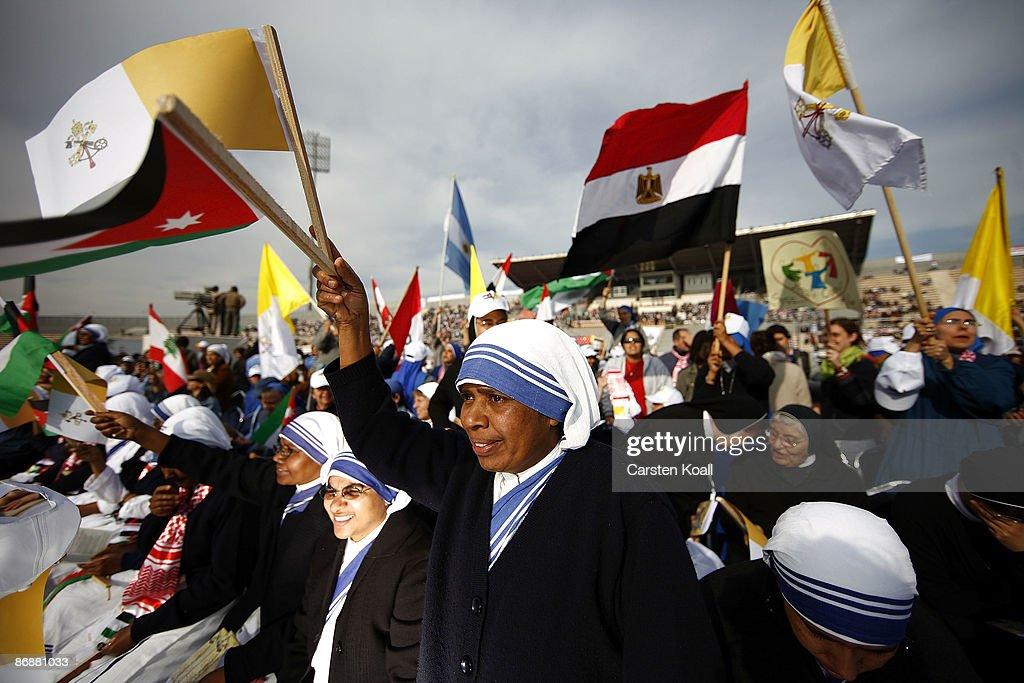 Pope Benedict XVI Visits Jordan : News Photo