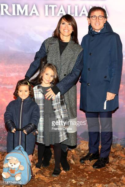 Nunzia De Girolamo and Francesco Boccia attend the Frozen 2 Secrets Of Arendelle premiere on November 12 2019 in Rome Italy