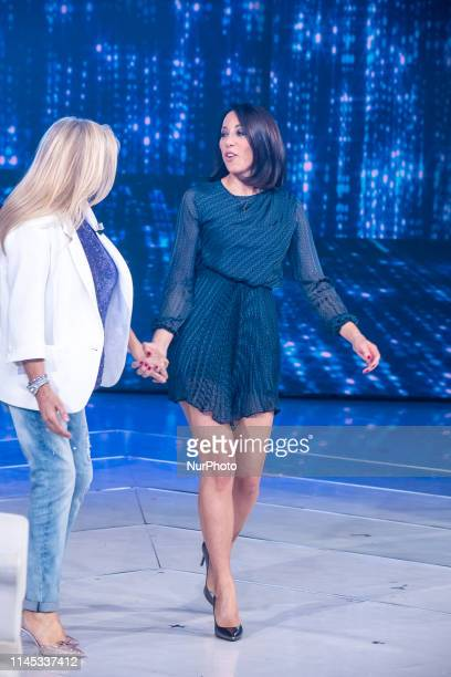 "Nunzia De Girolamo with Mara Venier during the Italian TV Show ""Domenica In"", in Rome, Italy, on May 20, 2019."