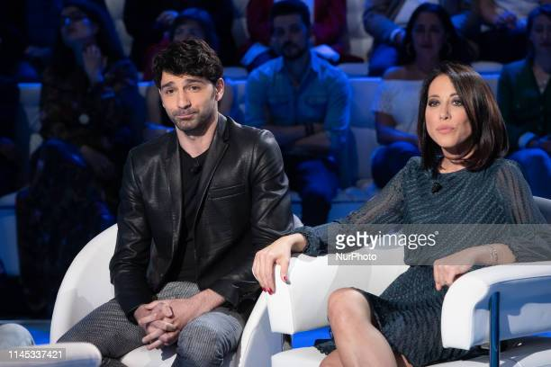 Nunzia De Girolamo with Raimondo Todaro during the Italian TV Show quotDomenica Inquot in Rome Italy on May 20 2019