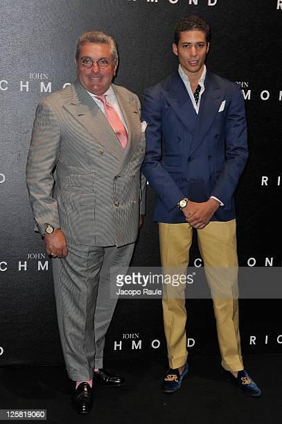 Nunzio Alfredo D'Angieri and son attend the John Richmond Spring/Summer 2012 fashion show as part of Milan Womenswear Fashion Week on September 21...