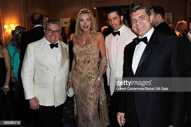 Nunzio Alfredo D'Angieri Valeria Marini Stefan John Charles and a guest attend the 'Global Gift Gala' 2013 cocktail presented by Eva Longoria at...