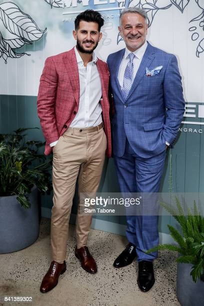 Nunzio Bagnato and Dom Bagnato during the Myer Spring Racing 2017 Collections Launch on September 1, 2017 in Melbourne, Australia.