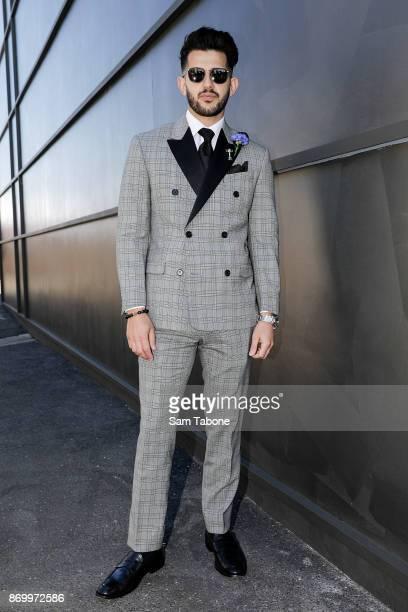 Nunzio Bagnato poses on Derby Day at Flemington Racecourse on November 4, 2017 in Melbourne, Australia.