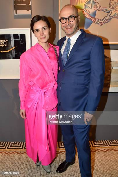 Nur El Shami and Andrew Goldstein attend BOMB's 37th Anniversary Gala Art Auction at Capitale on April 30 2018 in New York City