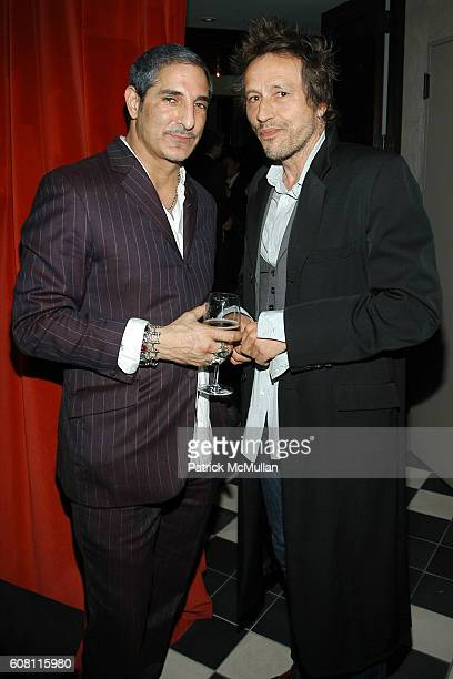 Nur Khan and Michael Wincott attend THE CINEMA SOCIETY HUGO BOSS after party for 'FRACTURE' at Gramercy Park Hotel on April 17 2007 in New York City