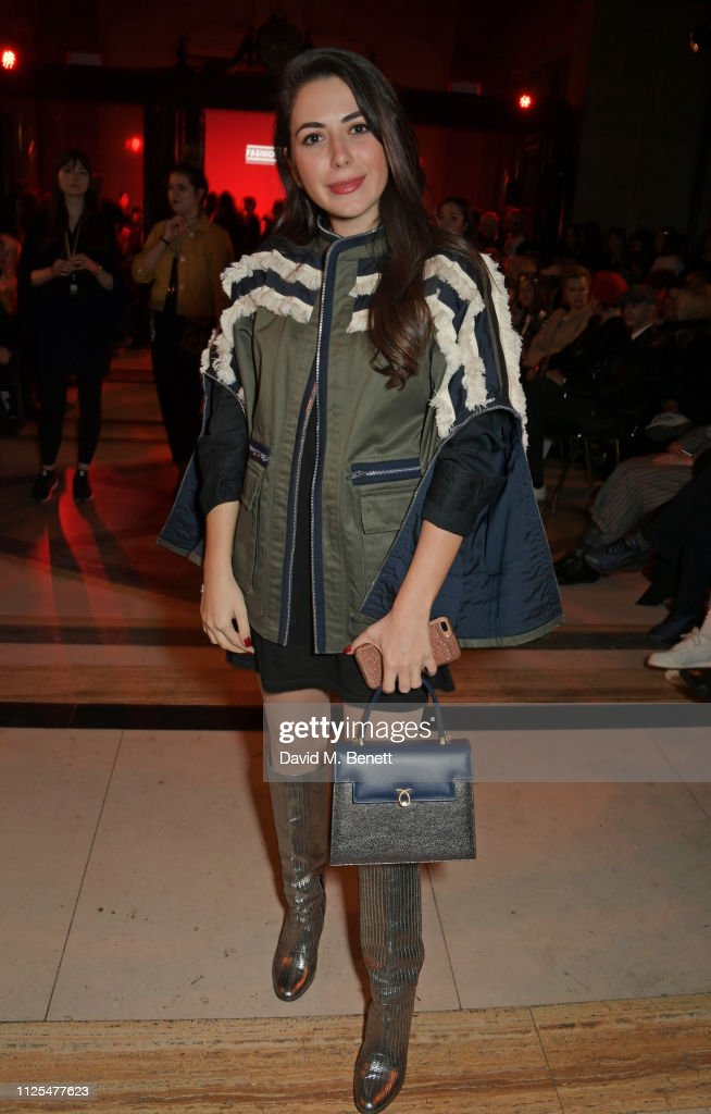 GBR: Pam Hogg - Front Row - LFW February 2019