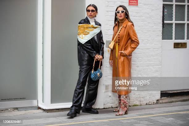 Nurce Erben seen outside 16Arlington during London Fashion Week February 2020 on February 14, 2020 in London, England.