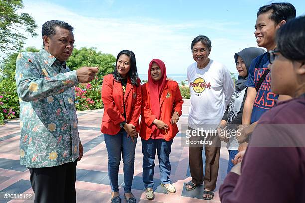 Nurdin Abdullah regent of Bantaeng District speaks to locals in Bantaeng South Sulawesi Province Indonesia on Sunday March 13 2016 The success of...