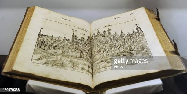 Nuremberg Chronicle. German version, December 23, 1493. Compiled by Hartmann Schedel and engraving by Michael Wolgemuth and Wilhelm Pleydenwurff....