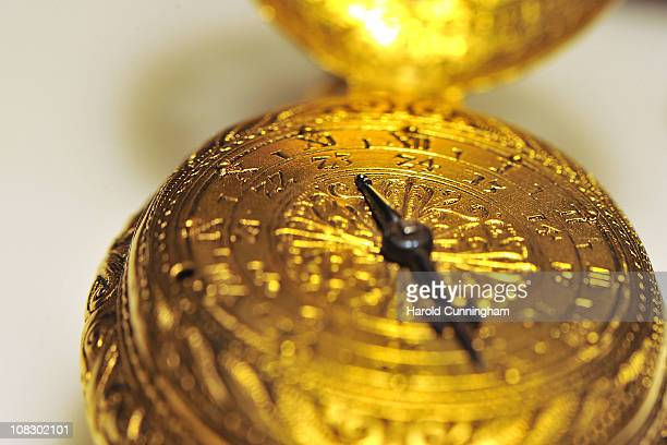 Nuremberg Egg one of the first personal clock originating from Germany circa 1550 is displayed on January 17 2011 in Geneva Switzerland The 21st...