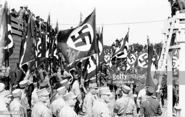 Nuremberg Rally 1933 in Nuremberg Germany Members of the SA at the Nazi party rally grounds Photo Berliner Verlag / Archive