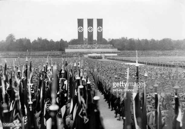 Nuremberg Rally 1933 in Nuremberg, Germany - SA units at the Nazi party rally grounds. Photo: Berliner Verlag / Archive -