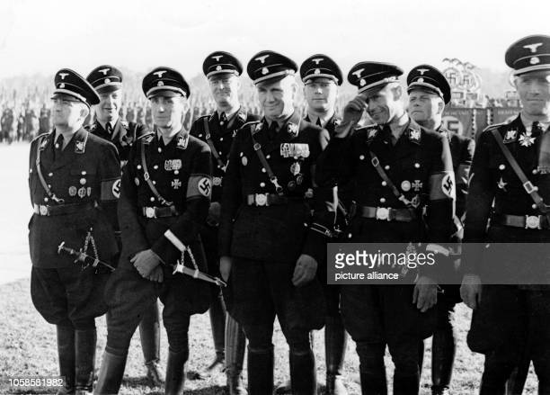 Nuremberg Rally 1937 in Nuremberg, Germany - Nazi party rally grounds - SS-Obergruppenfuehrer and Munich's chief of police Karl von Eberstein and...