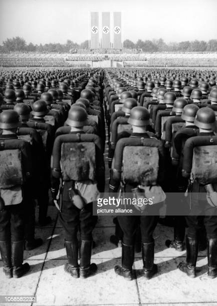 Nuremberg Rally 1938 in Nuremberg, Germany - Great roll call of the Sturmabteilung , Schutzstaffel , National Socialist Motor Corps and National...