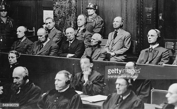 Nuremberg Trials First row Wilhelm von Leed Hugo Sperrle Georg Karl Friedrich Wilhelm von Kuechler Hermann Hoth Hans Reinhardt Back row Walter...