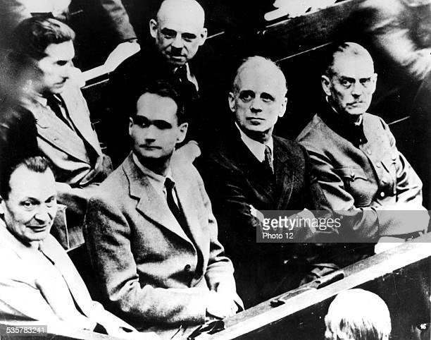 Nuremberg Trials Goering Hess Ribbentrop and Keitel 20th Germany World War II Paris Jewish Documentation Center