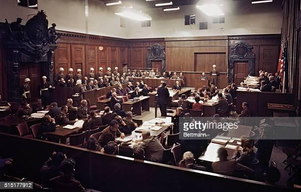 Nuremburg, Germany: General View of the trial of Nazi war criminals.